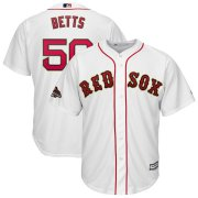 Wholesale Cheap Boston Red Sox #50 Mookie Betts Majestic 2019 Gold Program Cool Base Player Jersey White