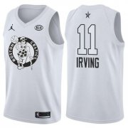 Wholesale Cheap Celtics 11 Kyrie Irving Jordan Brand White 2018 All-Star Game Swingman Jersey