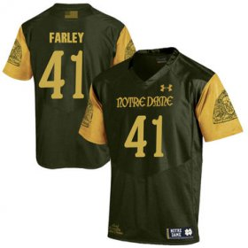 Wholesale Cheap Notre Dame Fighting Irish 41 Matthias Farley Olive Green College Football Jersey