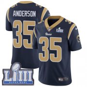 Wholesale Cheap Nike Rams #35 C.J. Anderson Navy Blue Team Color Super Bowl LIII Bound Youth Stitched NFL Vapor Untouchable Limited Jersey