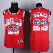 Wholesale Cheap Chicago Bulls #23 Michael Jordan Revolution 30 Swingman 2014 USA Flag Fashion Red Jersey