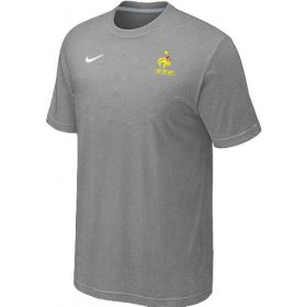 Wholesale Cheap Nike France 2014 World Small Logo Soccer T-Shirt Light Grey