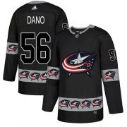 Wholesale Cheap Adidas Blue Jackets #56 Marko Dano Black Authentic Team Logo Fashion Stitched NHL Jersey