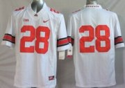 Wholesale Cheap Ohio State Buckeyes #28 Dominic Clarke 2014 White Limited Jersey