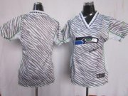 Wholesale Cheap Nike Seahawks Blank Zebra Women's Stitched NFL Elite Jersey