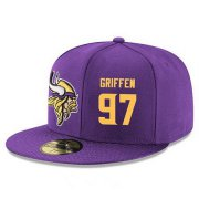 Wholesale Cheap Minnesota Vikings #97 Everson Griffen Snapback Cap NFL Player Purple with Gold Number Stitched Hat