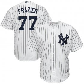 Wholesale Cheap New York Yankees #77 Clint Frazier Majestic Home Cool Base Replica Player Jersey White