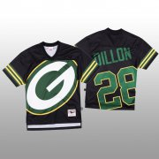 Wholesale Cheap NFL Green Bay Packers #28 AJ Dillon Black Men's Mitchell & Nell Big Face Fashion Limited NFL Jersey