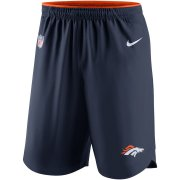 Wholesale Cheap Denver Broncos Nike Sideline Vapor Performance Shorts Navy