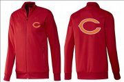 Wholesale NFL Chicago Bears Team Logo Jacket Red