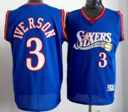Wholesale Cheap Philadelphia 76ers #3 Allen Iverson Blue Swingman Throwback Jersey