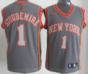 Wholesale Cheap New York Knicks #1 Amare Stoudemire Gray Shadow Jersey