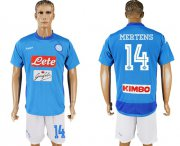 Wholesale Cheap Naples #14 Mertens Blue Home Soccer Club Jersey