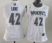 Wholesale Cheap Minnesota Timberwolves #42 Kevin Love White Womens Jersey