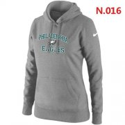 Wholesale Cheap Women's Nike Philadelphia Eagles Heart & Soul Pullover Hoodie Light Grey