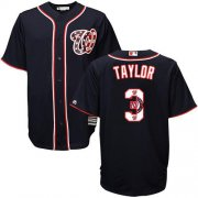 Wholesale Cheap Nationals #3 Michael Taylor Navy Blue Team Logo Fashion Stitched MLB Jersey