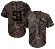 Wholesale Cheap Mariners #51 Ichiro Suzuki Camo Realtree Collection Cool Base Stitched MLB Jersey