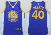 Wholesale Cheap Men's Golden State Warriors #40 Harrison Barnes Revolution 30 Swingman 2014 New Blue Jersey
