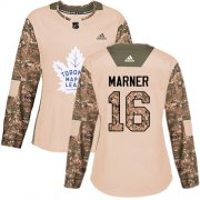 Wholesale Cheap Adidas Maple Leafs #16 Mitchell Marner Camo Authentic 2017 Veterans Day Women's Stitched NHL Jersey