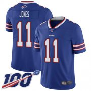 Wholesale Cheap Nike Bills #11 Zay Jones Royal Blue Team Color Men's Stitched NFL 100th Season Vapor Limited Jersey