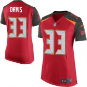 Wholesale Cheap Nike Buccaneers #33 Carlton Davis III Red Team Color Women's Stitched NFL New Elite Jersey