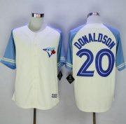 Wholesale Cheap Blue Jays #20 Josh Donaldson Cream/Blue Exclusive New Cool Base Stitched MLB Jersey