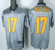 Wholesale Cheap Steelers #17 Mike Wallace Grey Shadow Stitched NFL Jersey