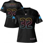Wholesale Cheap Nike Lions #32 D'Andre Swift Black Women's NFL Fashion Game Jersey
