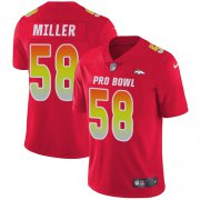 Wholesale Cheap Nike Broncos #58 Von Miller Red Men's Stitched NFL Limited AFC 2018 Pro Bowl Jersey