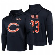 Wholesale Cheap Chicago Bears #23 Kyle Fuller Nike NFL 100 Primary Logo Circuit Name & Number Pullover Hoodie Navy