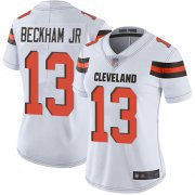 Wholesale Cheap Nike Browns #13 Odell Beckham Jr White Women's Stitched NFL Vapor Untouchable Limited Jersey