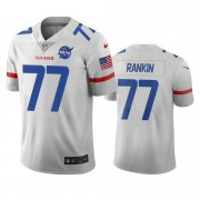 Wholesale Cheap Houston Texans #77 Martinas Rankin White Vapor Limited City Edition NFL Jersey