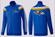Wholesale Cheap NFL Baltimore Ravens Team Logo Jacket Blue