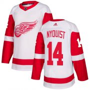 Wholesale Cheap Adidas Red Wings #14 Gustav Nyquist White Road Authentic Stitched Youth NHL Jersey