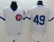 Wholesale Cubs #49 Jake Arrieta White Flexbase Authentic Collection Cooperstown Stitched Baseball Jersey