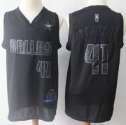 Wholesale Cheap Mavericks #41 Dirk Nowitzki Black Basketball MVP Swingman Jersey
