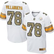 Wholesale Cheap Nike Steelers #78 Alejandro Villanueva White/Camo Men's Stitched NFL Elite Jersey