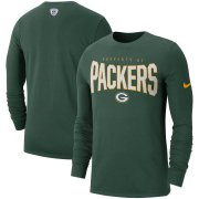 Wholesale Cheap Green Bay Packers Nike Sideline Property Of Performance Long Sleeve T-Shirt Green