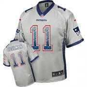 Wholesale Cheap Nike Patriots #11 Julian Edelman Grey Men's Stitched NFL Elite Drift Fashion Jersey