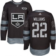Wholesale Cheap Adidas Kings #22 Tiger Williams Black 1917-2017 100th Anniversary Stitched NHL Jersey