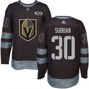 Wholesale Cheap Adidas Golden Knights #30 Malcolm Subban Black 1917-2017 100th Anniversary Stitched NHL Jersey