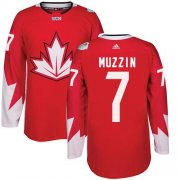 Wholesale Cheap Team Canada #7 Jake Muzzin Red 2016 World Cup Stitched Youth NHL Jersey