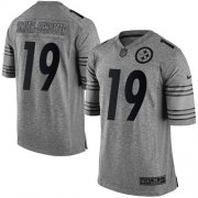 Wholesale Cheap Nike Steelers #19 JuJu Smith-Schuster Gray Men's Stitched NFL Limited Gridiron Gray Jersey