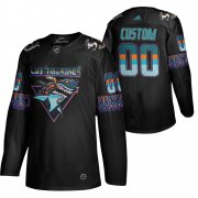 Wholesale Cheap San Jose Sharks Custom Men's Adidas 2020 Los Tiburones Limited NHL Jersey Black