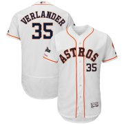 Wholesale Cheap Houston Astros #35 Justin Verlander Majestic 2019 Postseason Authentic Flex Base Player Jersey White
