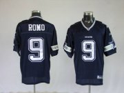 Wholesale Cheap Cowboys #9 Tony Romo Blue Stitched NFL Jersey