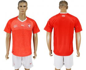 Wholesale Cheap Switzerland Blank Red Home Soccer Country Jersey
