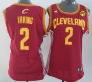 Wholesale Cheap Women's Cleveland Cavaliers #2 Kyrie Irving Red 2016 The NBA Finals Patch Jersey