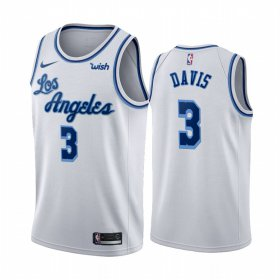 Wholesale Cheap Nike Lakers #3 Anthony Davis White 2019-20 Hardwood Classic Edition Stitched NBA Jersey