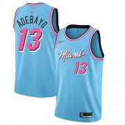 Wholesale Cheap Men's Miami Heat #13 Bam Adebayo Blue Basketball Swingman City Edition 2019-20 Jersey